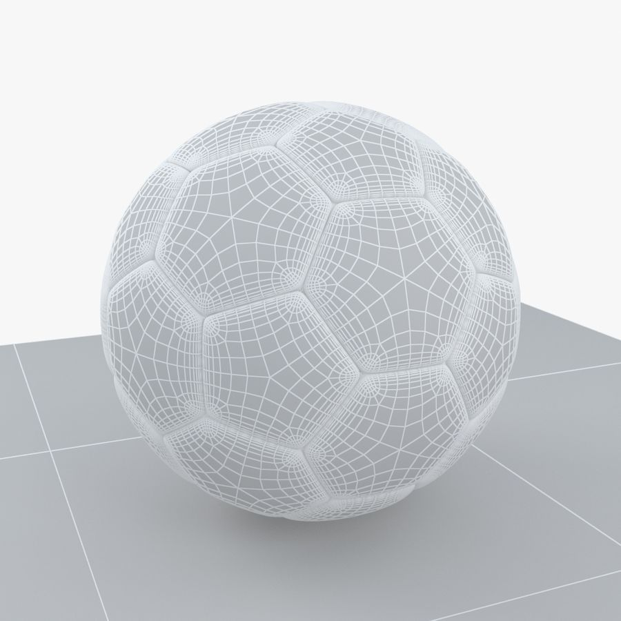Soccerball Algérie royalty-free 3d model - Preview no. 7