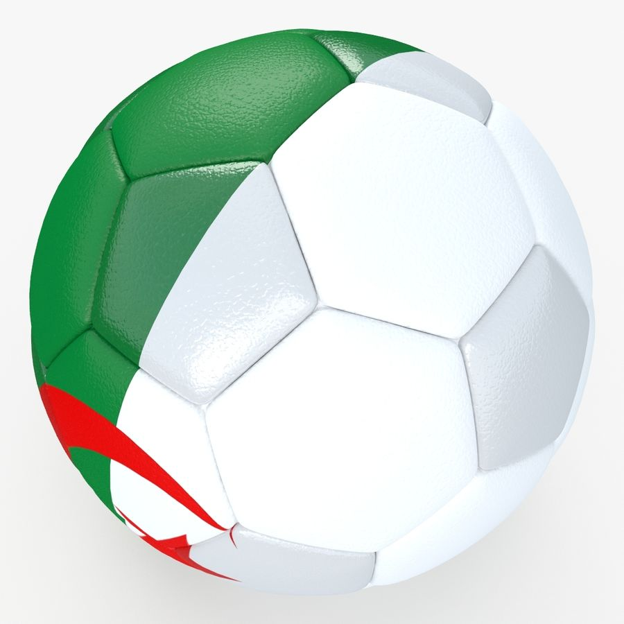 Soccerball Algérie royalty-free 3d model - Preview no. 4