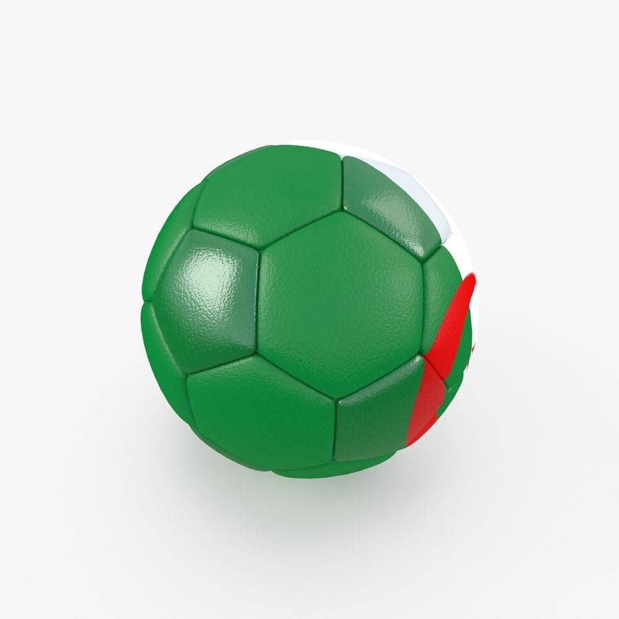 Soccerball Algérie royalty-free 3d model - Preview no. 3