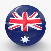 Soccerball Australië 3d model
