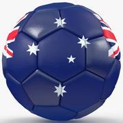Soccerball big holes Australia 3d model