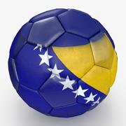 Buracos grandes de bola de futebol Bósnia Herzegovina 3d model