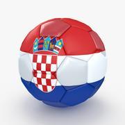 Soccerball big holes Croatia 3d model