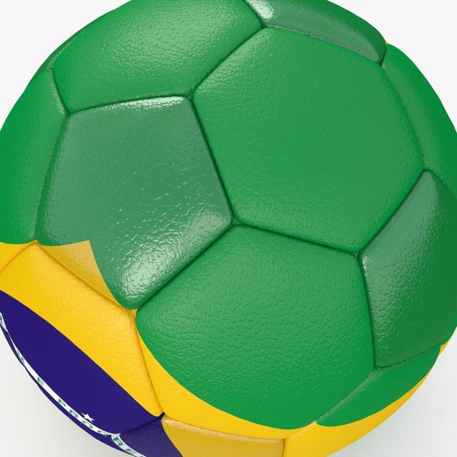 Soccerball Brésil royalty-free 3d model - Preview no. 4