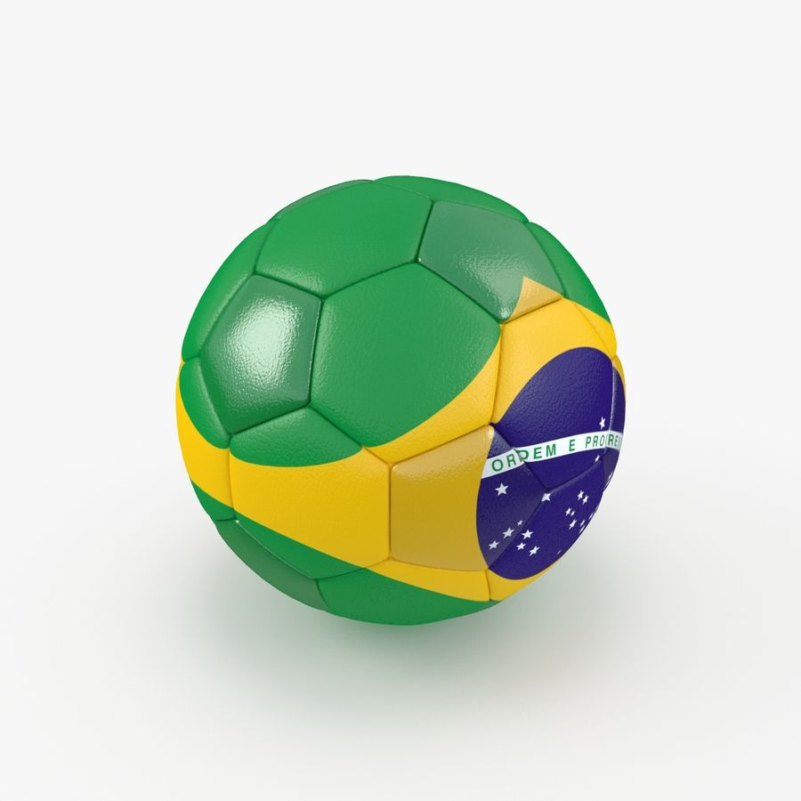Soccerball Brésil royalty-free 3d model - Preview no. 1