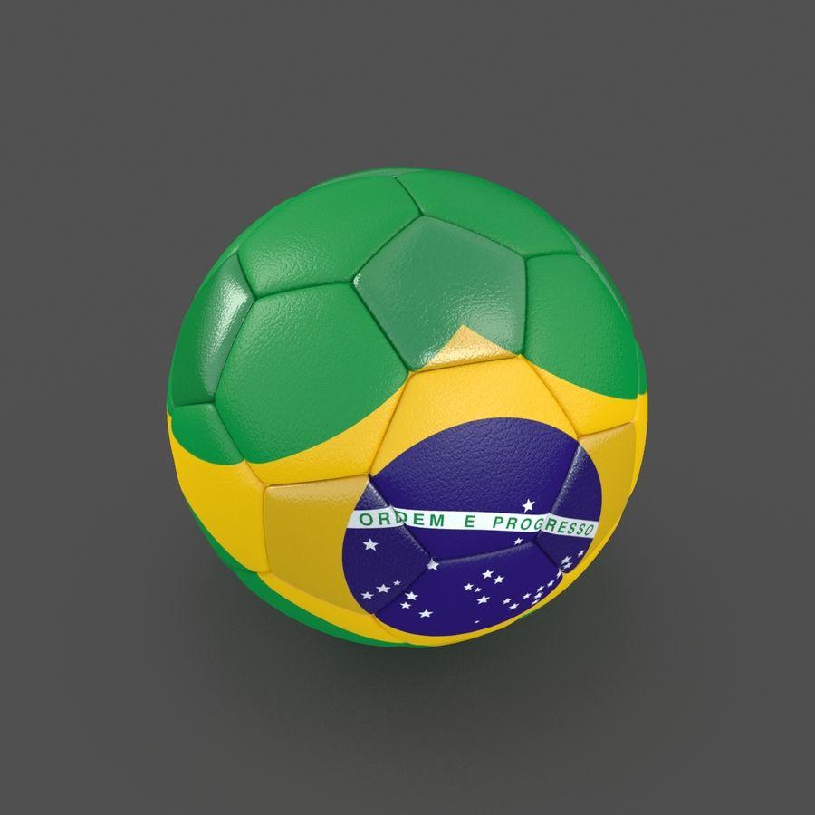 Soccerball Brésil royalty-free 3d model - Preview no. 2