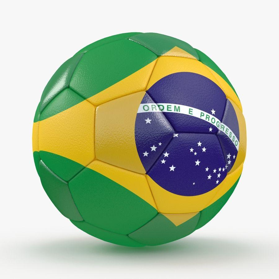 Soccerball Brésil royalty-free 3d model - Preview no. 6