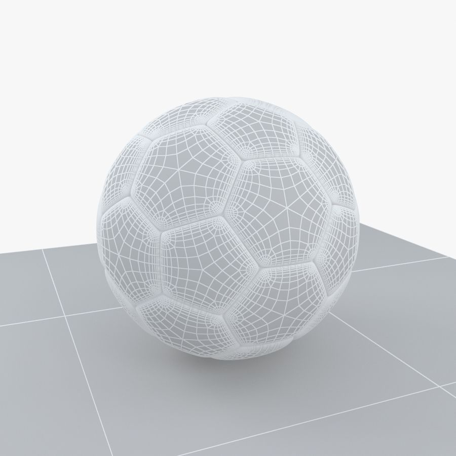 Soccerball Brésil royalty-free 3d model - Preview no. 7