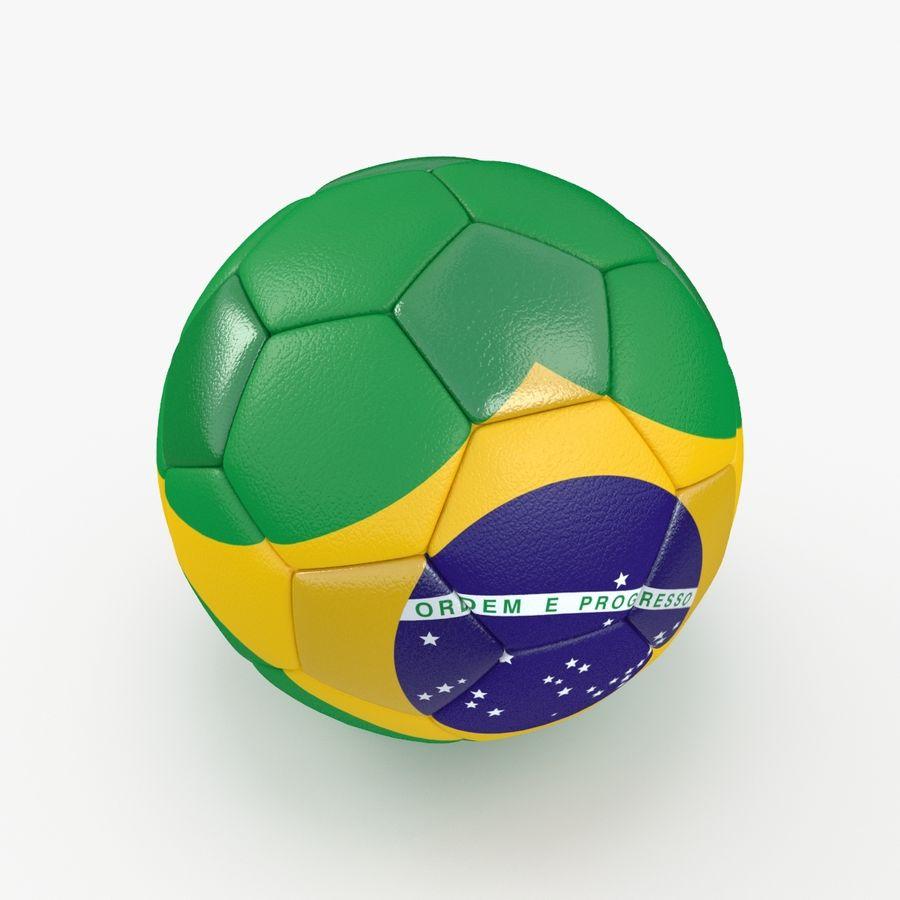 Soccerball Brésil royalty-free 3d model - Preview no. 5