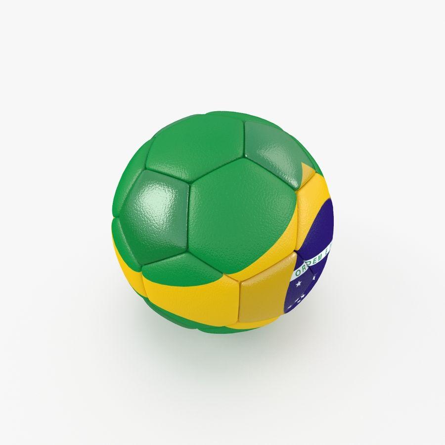 Soccerball Brésil royalty-free 3d model - Preview no. 3
