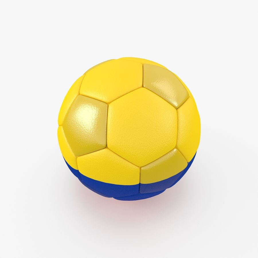 Soccerball Colombie royalty-free 3d model - Preview no. 3