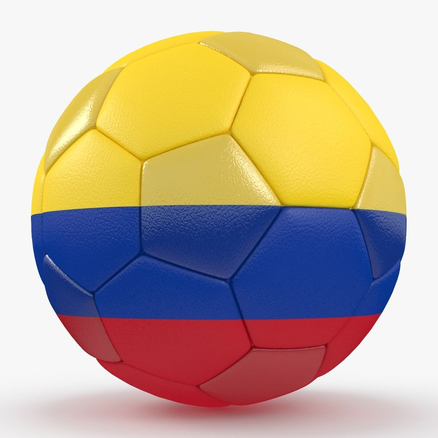 Soccerball Colombie royalty-free 3d model - Preview no. 6