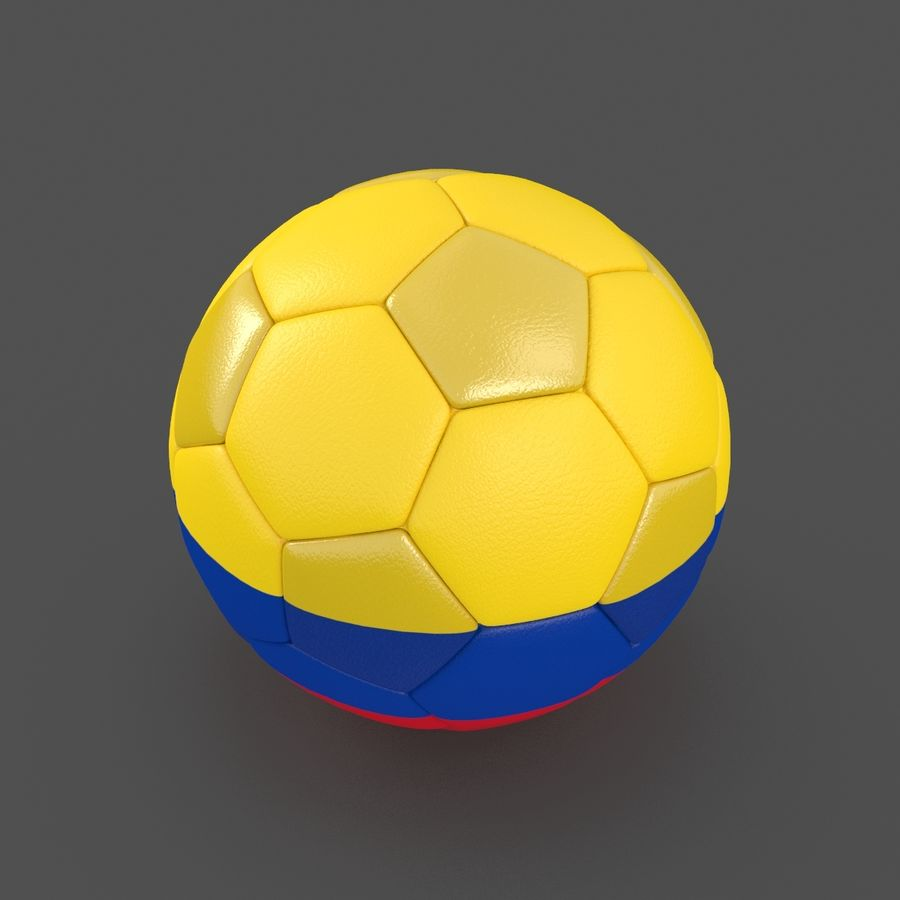 Soccerball Colombie royalty-free 3d model - Preview no. 2