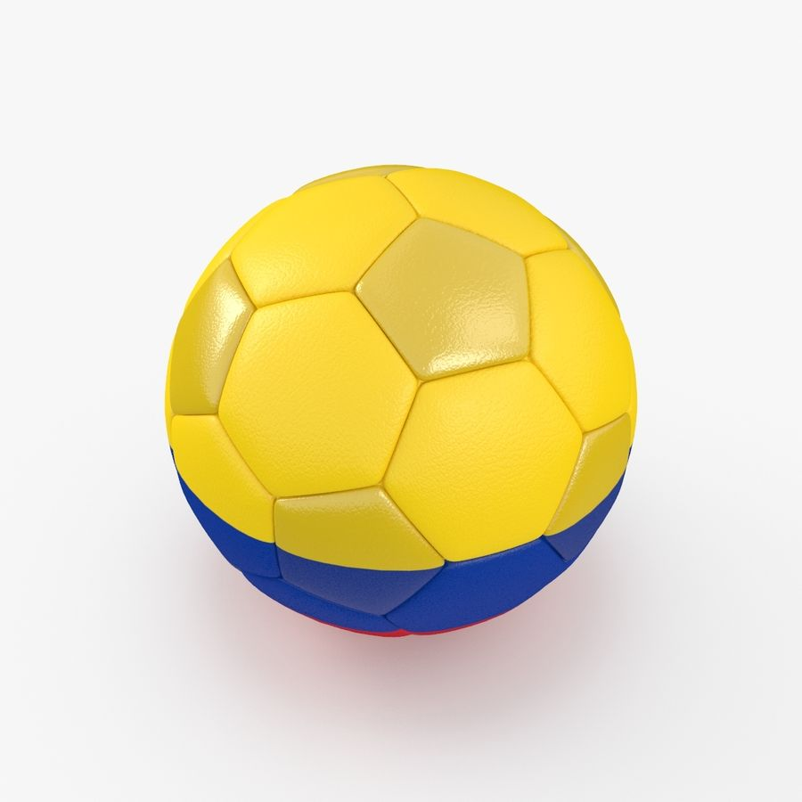 Soccerball Colombie royalty-free 3d model - Preview no. 5