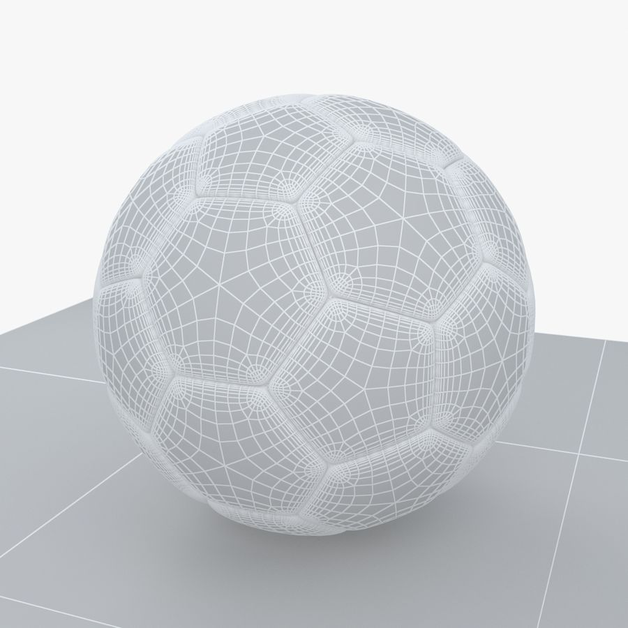 Soccerball Colombie royalty-free 3d model - Preview no. 8