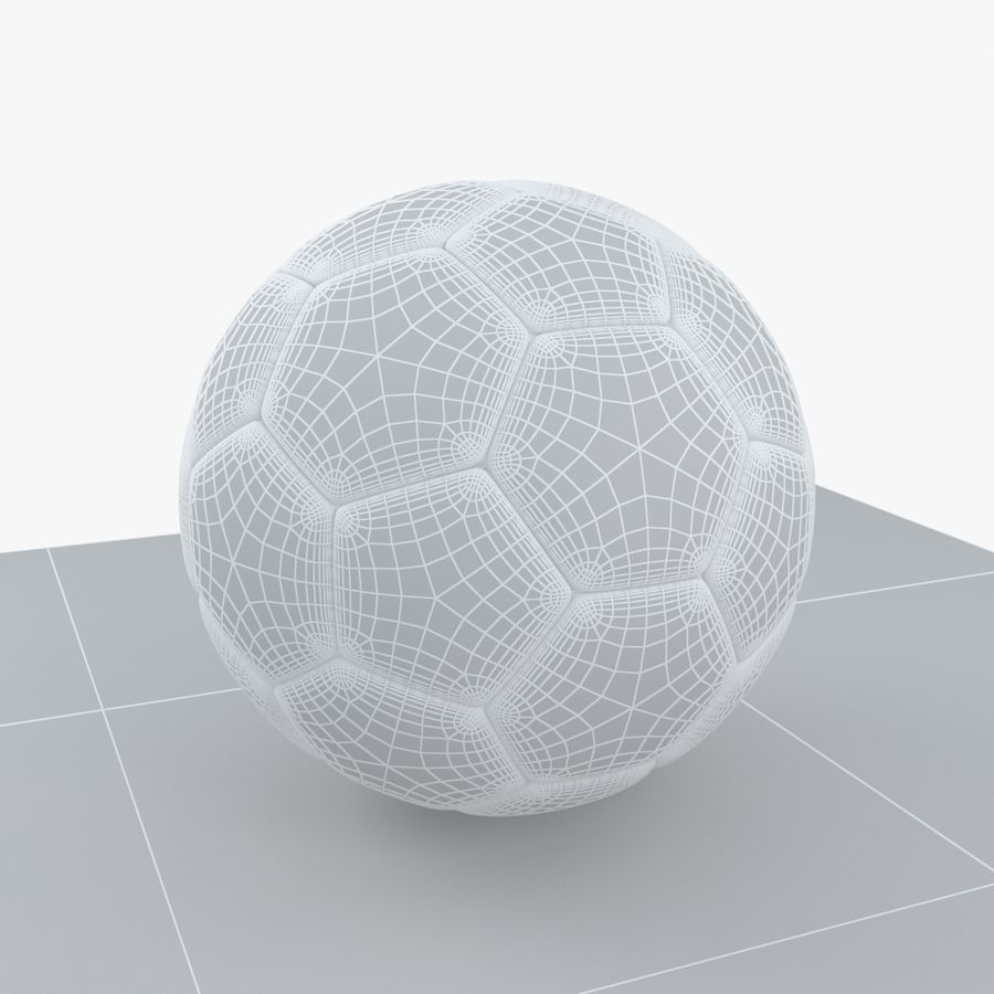 Soccerball Colombie royalty-free 3d model - Preview no. 7