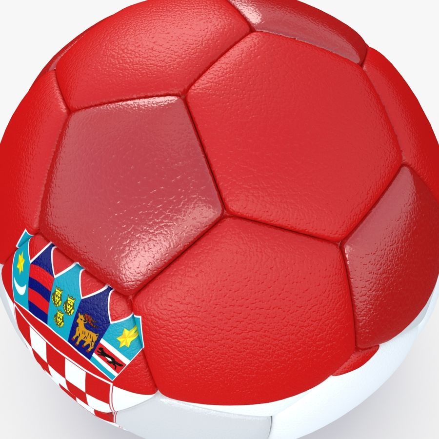 Soccerball Croatie royalty-free 3d model - Preview no. 4