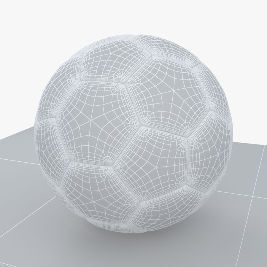 Soccerball Croatie royalty-free 3d model - Preview no. 8