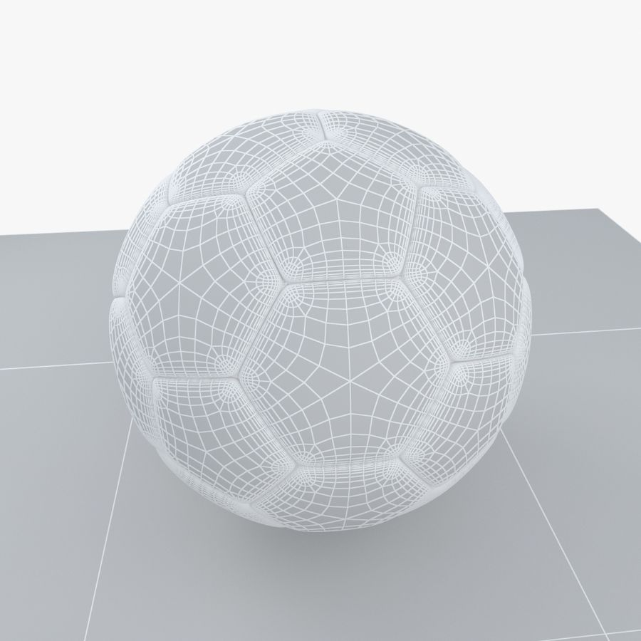Soccerball Croatie royalty-free 3d model - Preview no. 9