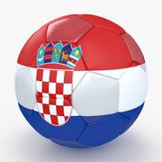 Soccerball Croatie 3d model