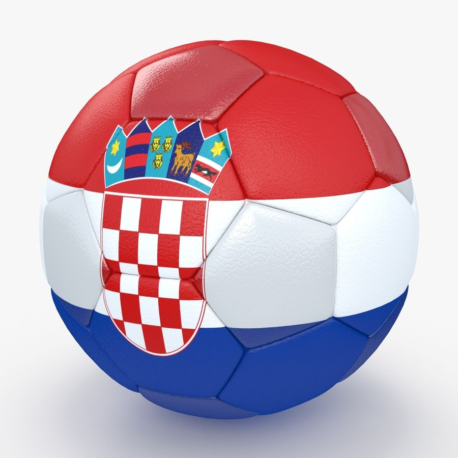 Soccerball Croatie royalty-free 3d model - Preview no. 1