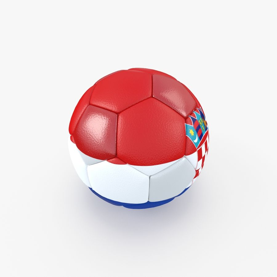 Soccerball Croatie royalty-free 3d model - Preview no. 3