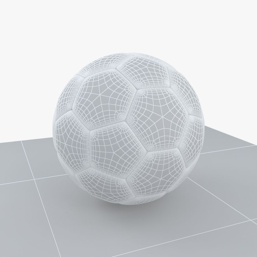 Soccerball Croatie royalty-free 3d model - Preview no. 7