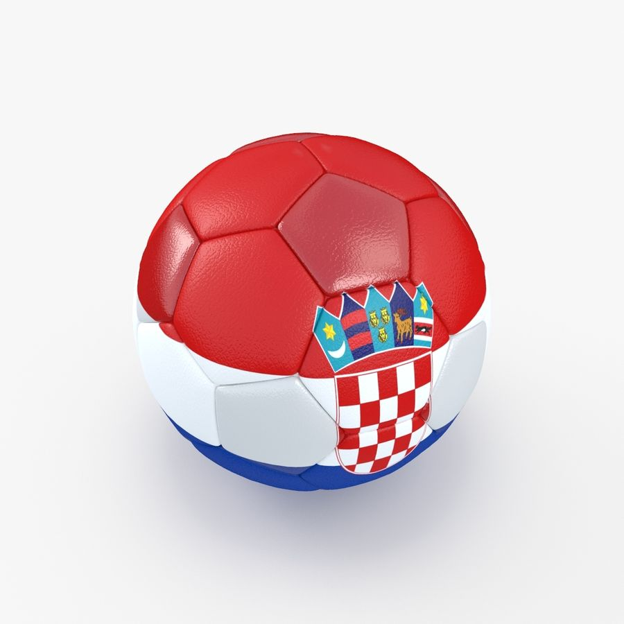 Soccerball Croatie royalty-free 3d model - Preview no. 5