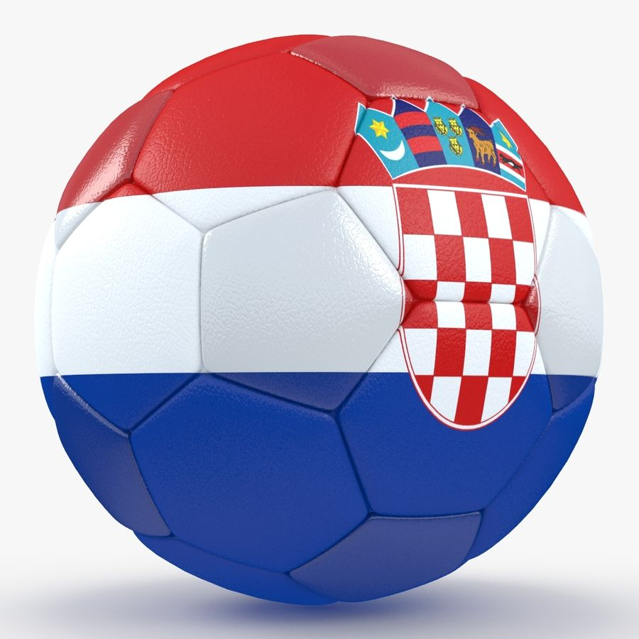 Soccerball Croatie royalty-free 3d model - Preview no. 6