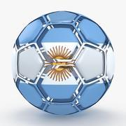 Soccerball dissasembled Argentina 3d model