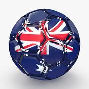 Soccerball dissasembled Australia 3d model