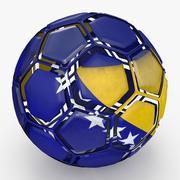 足球被分解成波斯尼亚黑塞哥维那 3d model