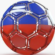 Soccerball dissasembled Chile 3d model