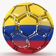 Soccerball dissasembled Colombia 3d model