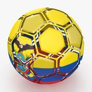 Soccerball dissasembled Ecuador 3d model