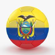 サッカーボールエクアドル 3d model