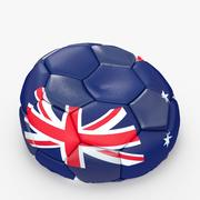 Soccerball empty Australia 3d model