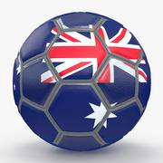 Soccerball fancy Australia 3d model