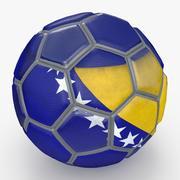 Pallone da calcio fantasia Bosnia Erzegovina 3d model