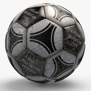 Soccerball pro triangles text 3d model