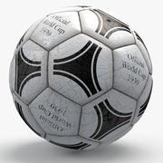 Soccerball pro white triangles text 3d model