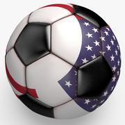 Soccerball 프로 클린 블랙 USA 3d model
