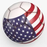 Soccerball 프로 클린 USA 3d model