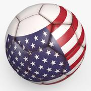 Soccerball pro clean USA 3d model
