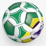Soccerball pro triangles Brazil 3d model