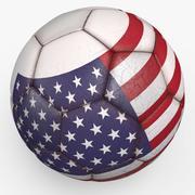 美国职业足球赛 3d model