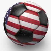 Soccerball USA 3d model