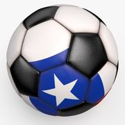 Soccerball pro clean black Colombia 3d model