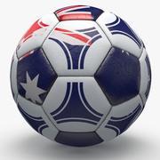 Soccerball pro triângulos Austrália 3d model