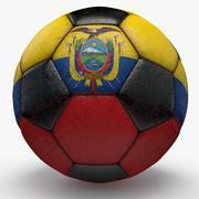 Soccerball Ecuador 3d model